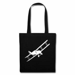sac vintage tissus avion biplan