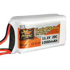 Batterie 11.1V 1000MAH 20C Zop power Broche JST