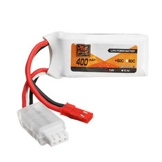 Batterie 7.4V 400mAh 2S 50C Zop Power connecteur Jst