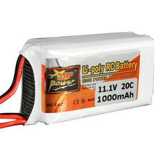 Batterie 11.1V 1000MAH 20C Zop power Broche JST