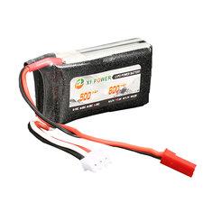 Batterie 7.4V 600mAh 2S 30C XF power broche JST
